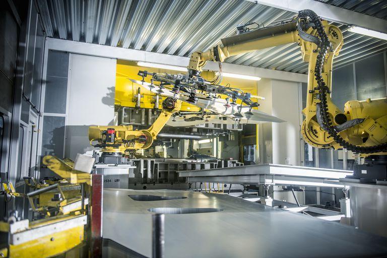 An industrial robot at work