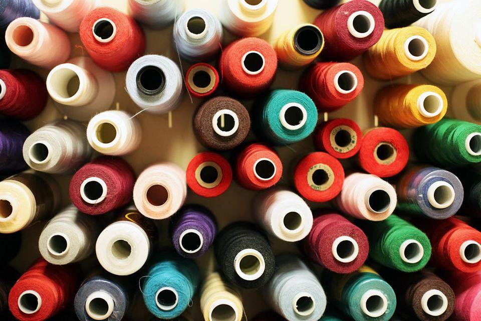 Wool, Rayon & Cotton Thread Spools