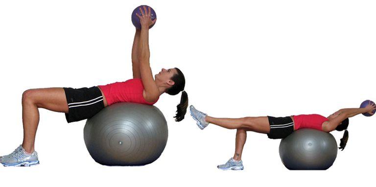Med Ball Leg Extensions