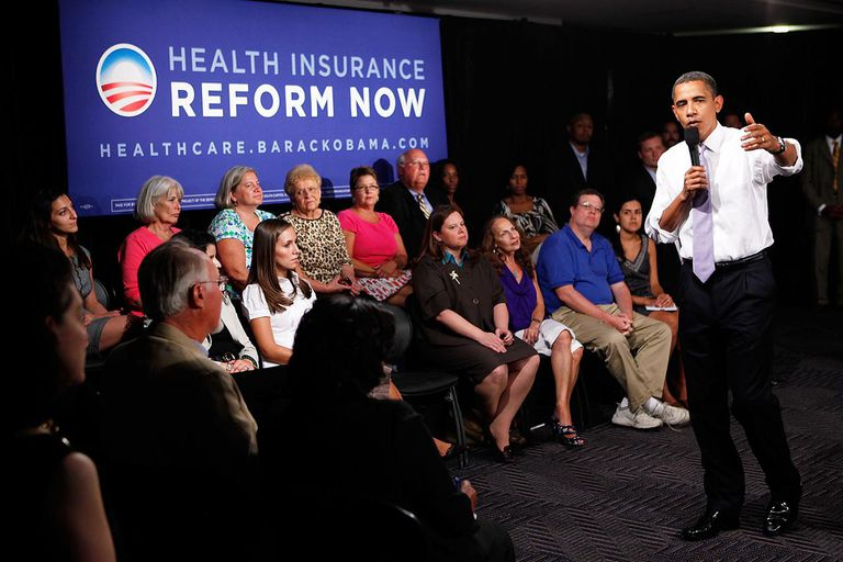 Obama Attends Forum For Supporters Of National Health Care Reform