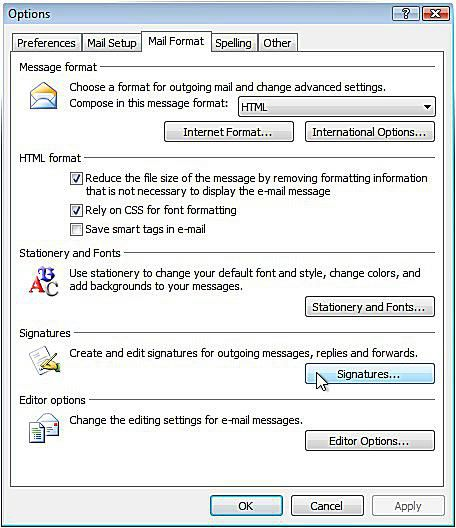 create email template outlook 2007