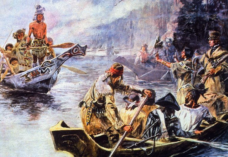 Painting of Lewis and Clark Expedition