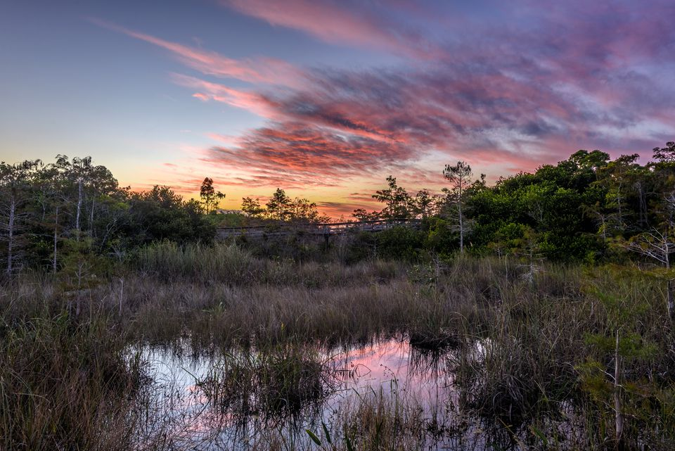 Sunset at Pa-Hay-Okee Overlook, Everglades National Park, Florida
