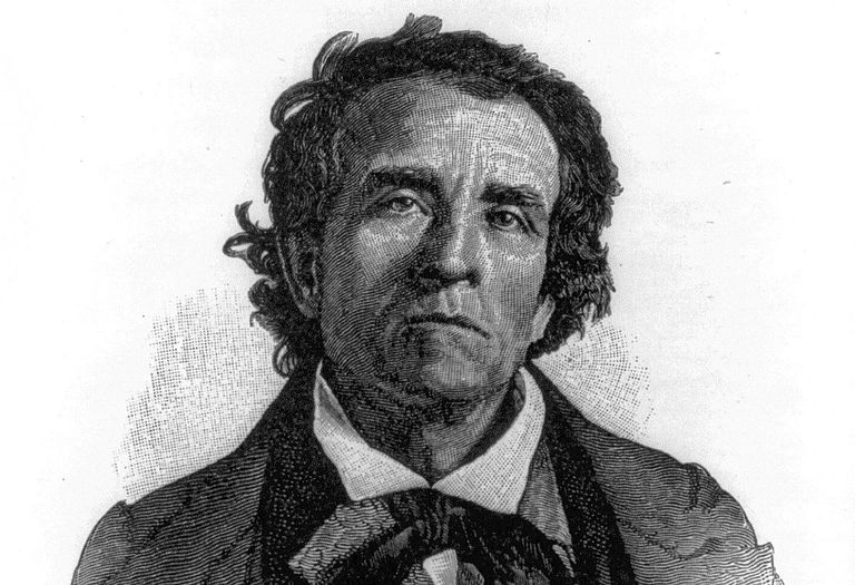 Engraved portrait of Theodore Dwight Weld