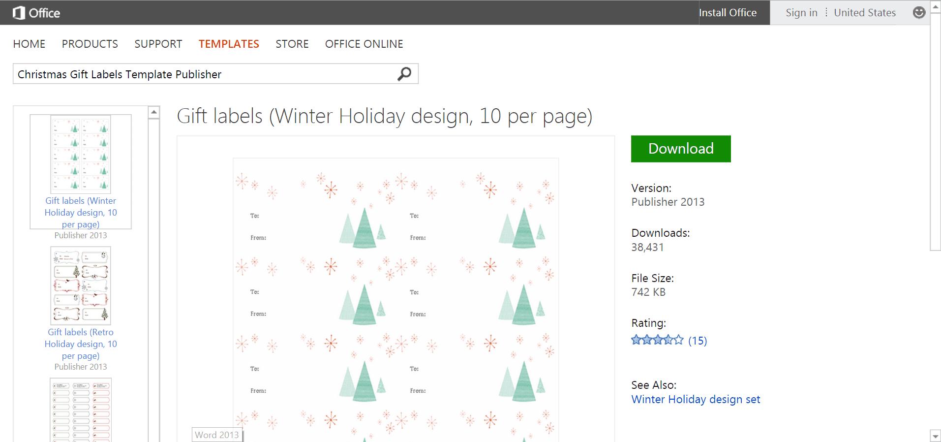 Microsofts Best Free DIY Christmas Templates