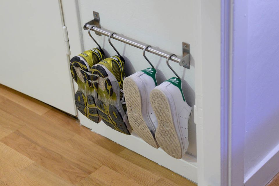 19 hanging storage hacks to get your home super organized for Hanging organizer ikea