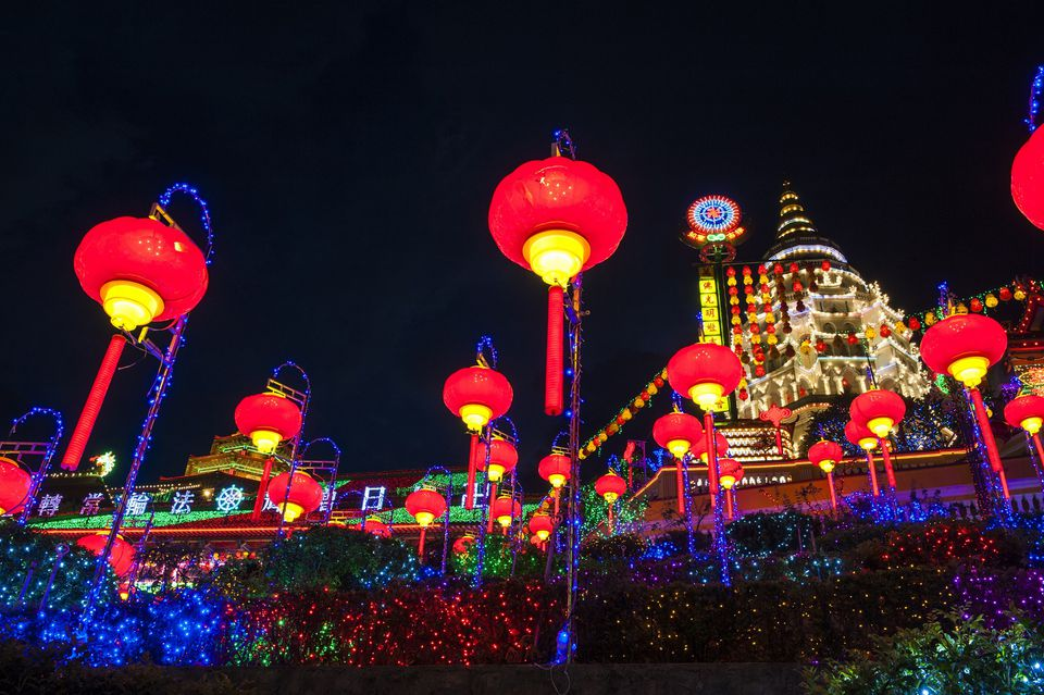 Kek Lok Si lightup, Chinese New Year in Penang