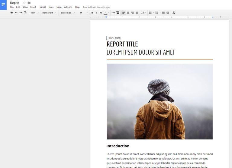 Screenshot of a document in Google Docs