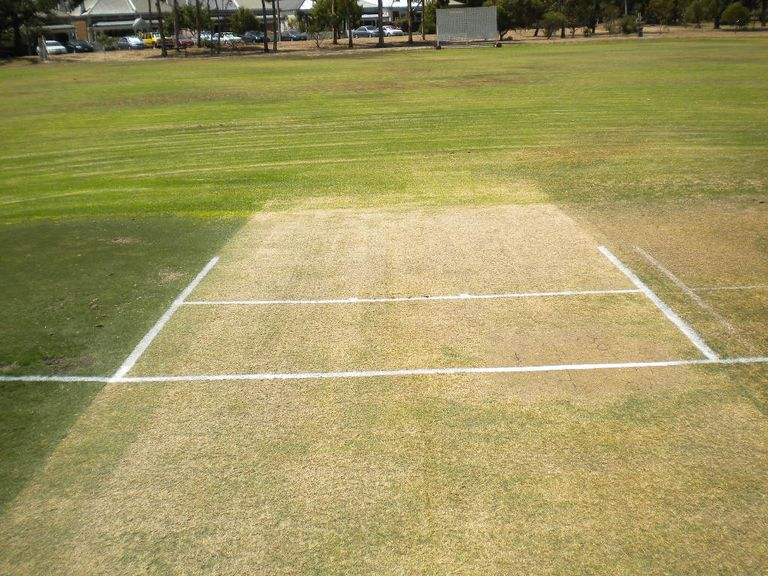 cricket pitch markings including popping crease, bowling crease, and return creases