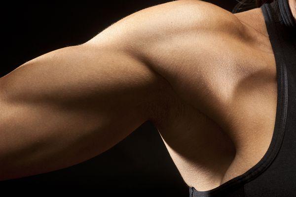 Close up of woman's shoulder