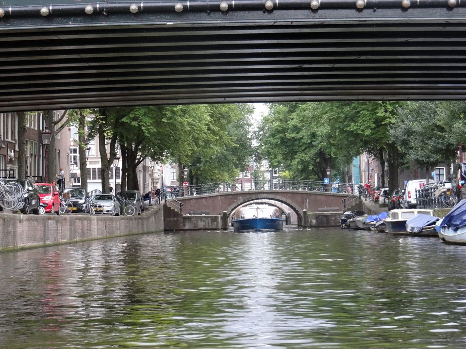 Canal ride in Amsterdam