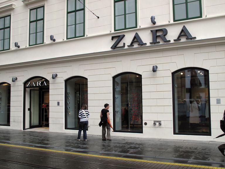 Facade of the store of Spanish fashion brand Zara in Zagreb.