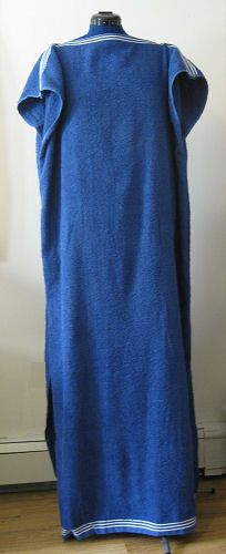 Free Sewing Pattern to Sew a Simple Towel Robe or Beach Cover Up from Two Matching Towels