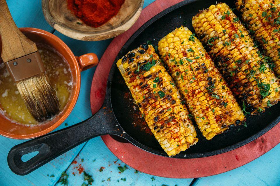 Sweetened Chipotle-Garlic Corn on the Cob