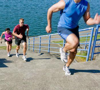 Stair running workout
