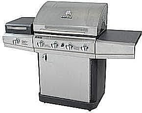 Char-Broil 4-Burner Gas Grill with Outdoor Stove Sideburner Model# 463420511