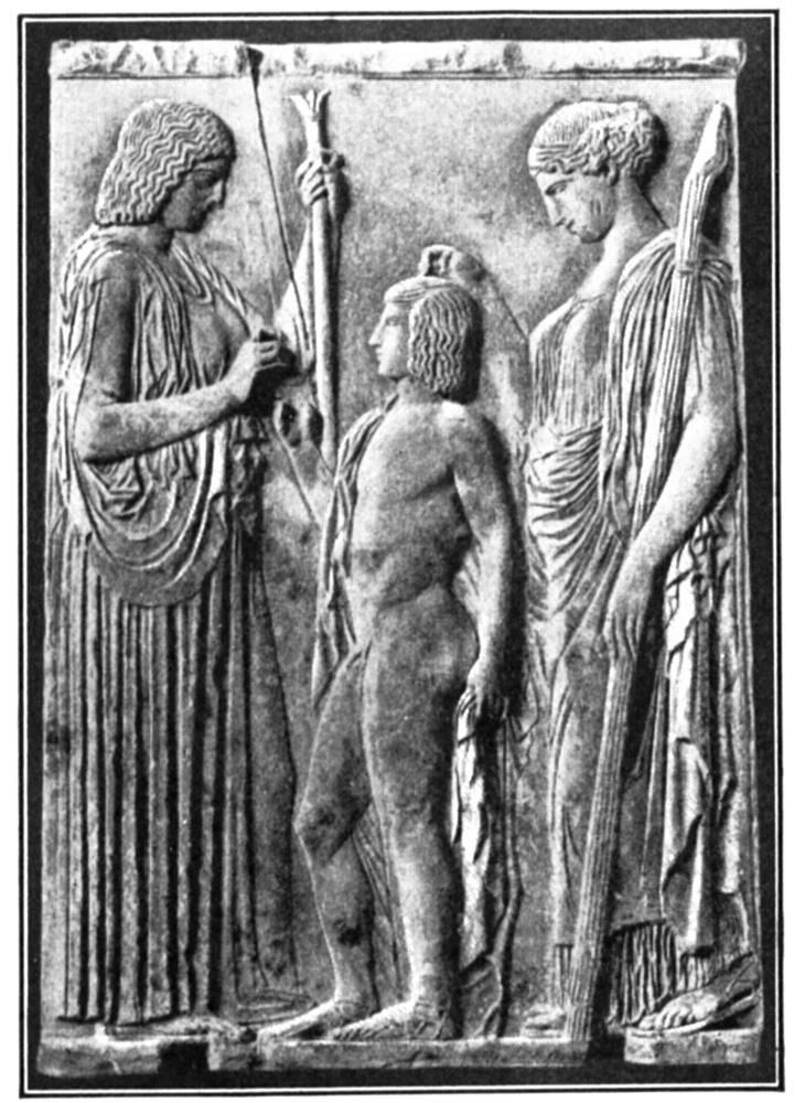 Frieze of Demeter and Persephone Consecrating Triptolemus