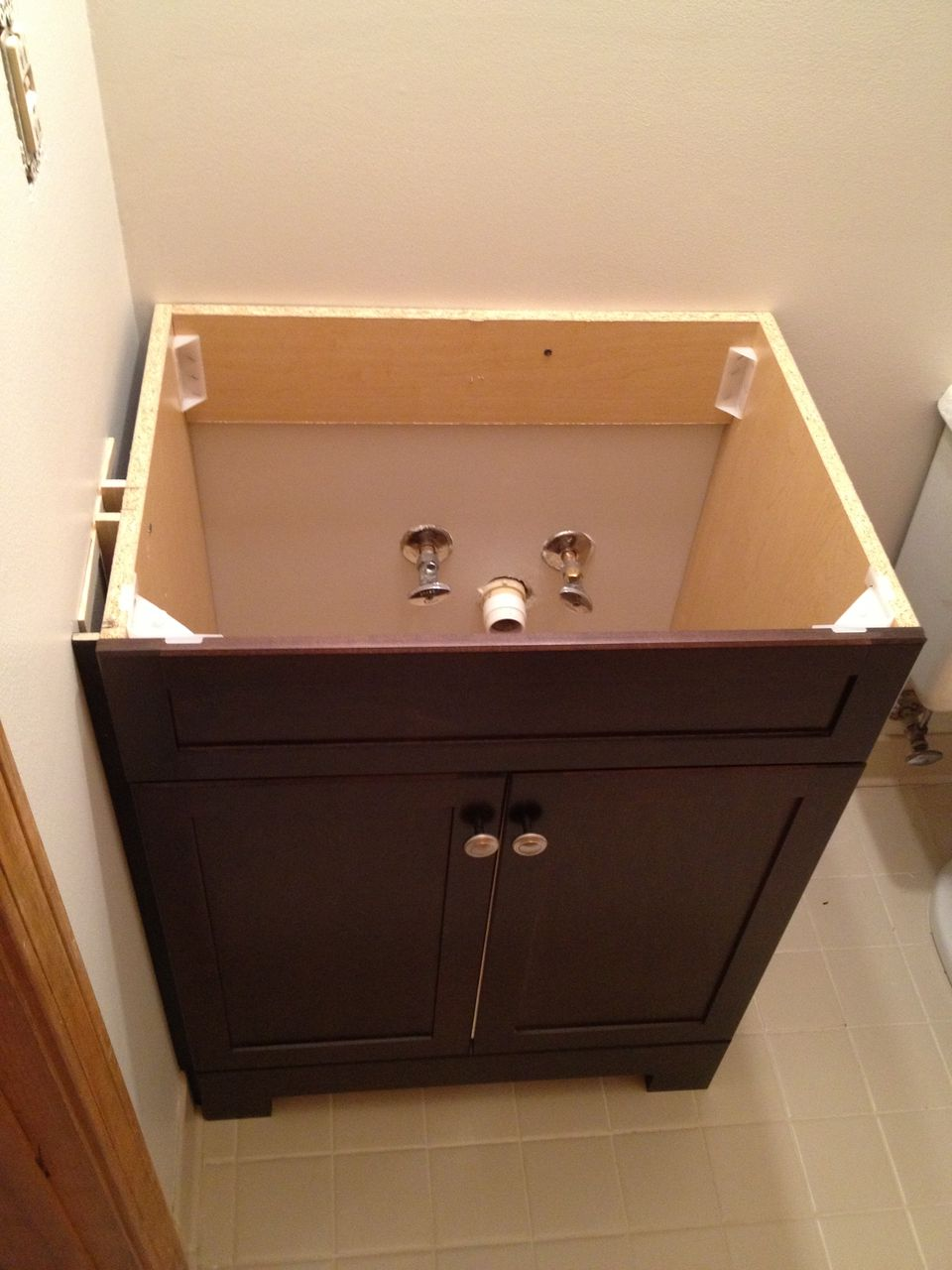 Installed vanity without topHow to Replace and Install a Bathroom Vanity. Installing Bathroom Vanity. Home Design Ideas
