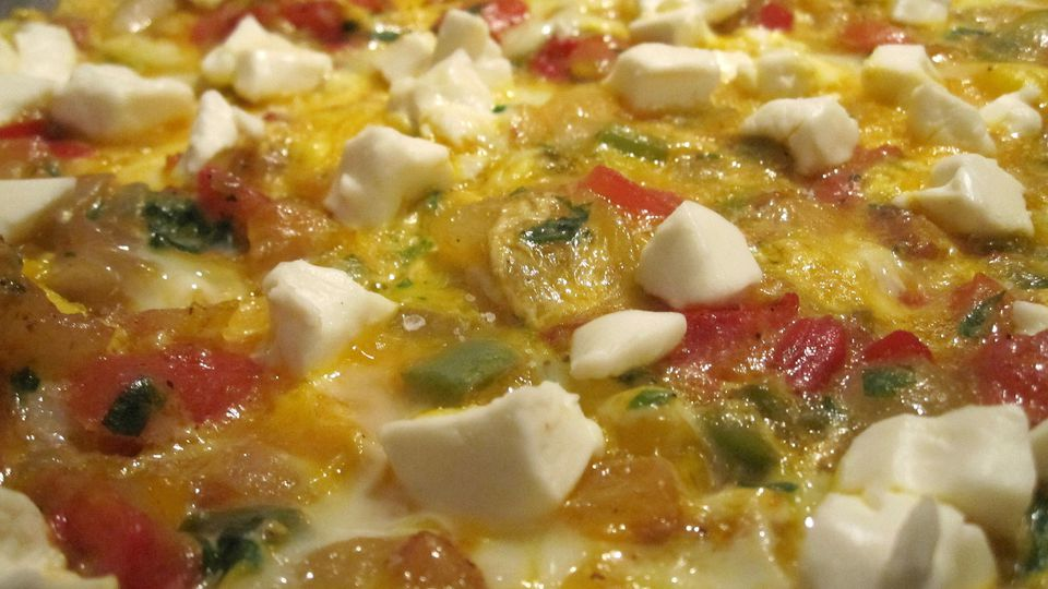 Moroccan Omelet With Veggies and Cream Cheese