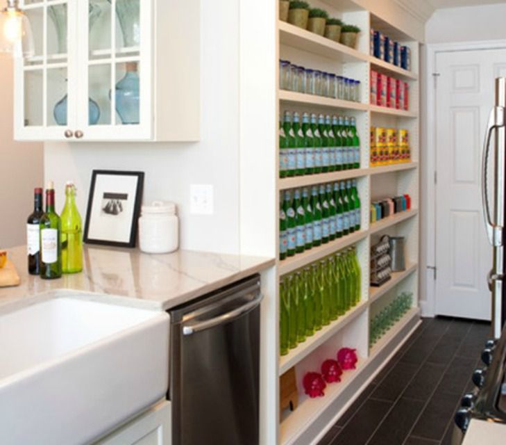 Shallow Open Pantry Shelves In Kitchen: Pantry Ideas To Help You Organize Your Kitchen