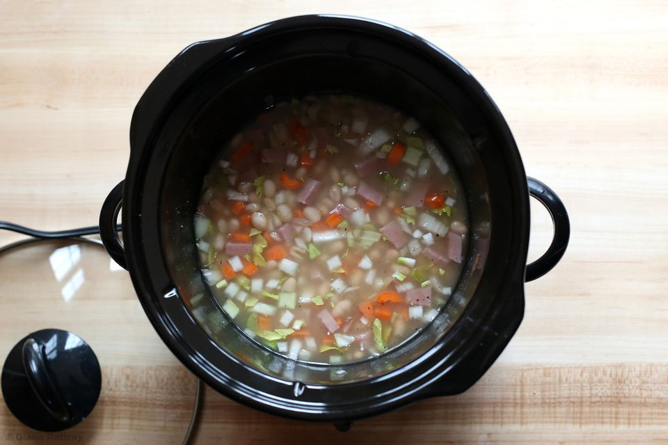 Navy Bean Soup in Slow Cooker