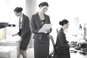 Woman using her discretionary energy to accomplish work beyond the call