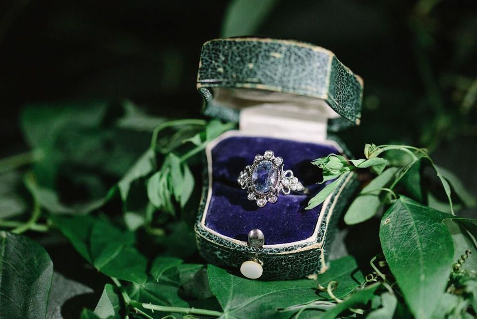 Claire Pettibone x Trumpet & Horn sapphire engagement ring