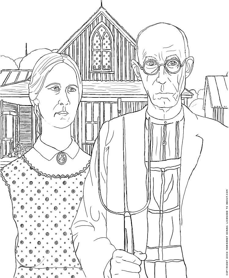 Free Art History Coloring Pages - Famous Works of Art