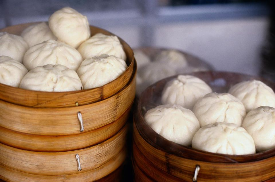 Two Full Baskets of Dumplings