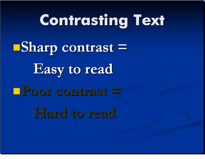 Use contrasting fonts in PowerPoint presentations