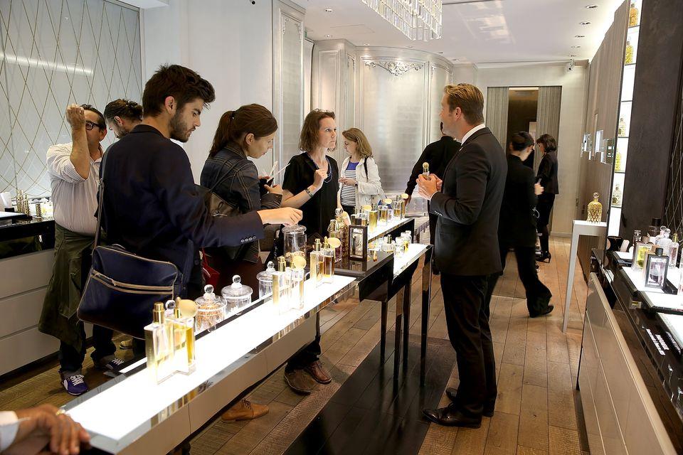 'Guerlain' Perfumery' during 'Les Rives De La Beaute 2014' Launch Party At Le Marais on September 18, 2014 in Paris, France.