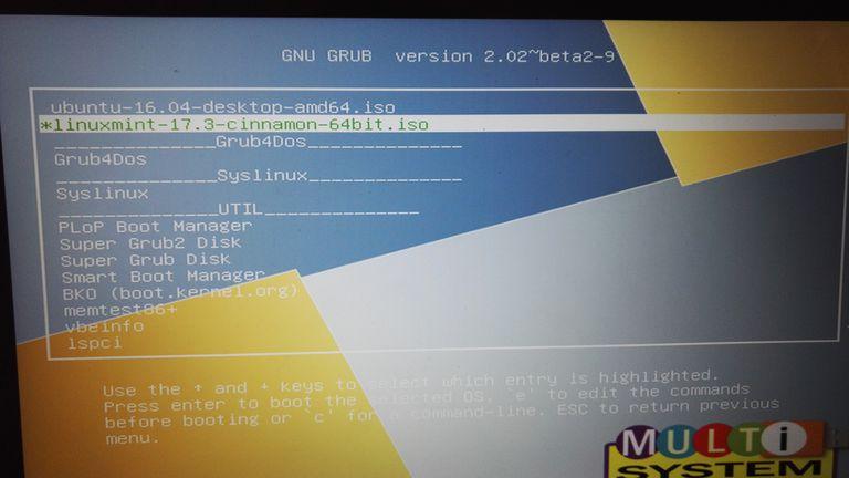 Multisystem Linux Multiboot USB Drive