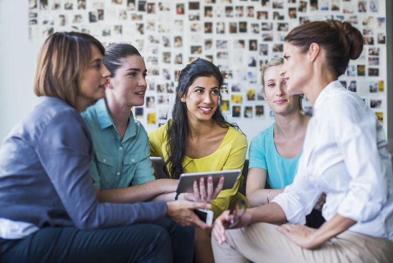 Businesswomen having a casual meeting