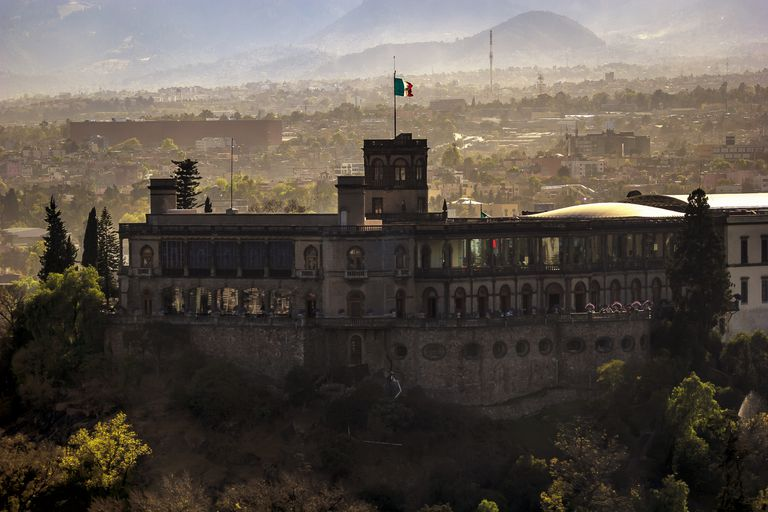 View of the Castle of Chapultepec in Mexico City ,Mexico