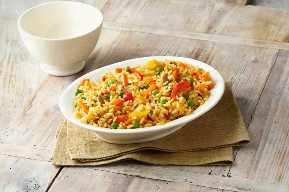 rice, tuna, vegetables
