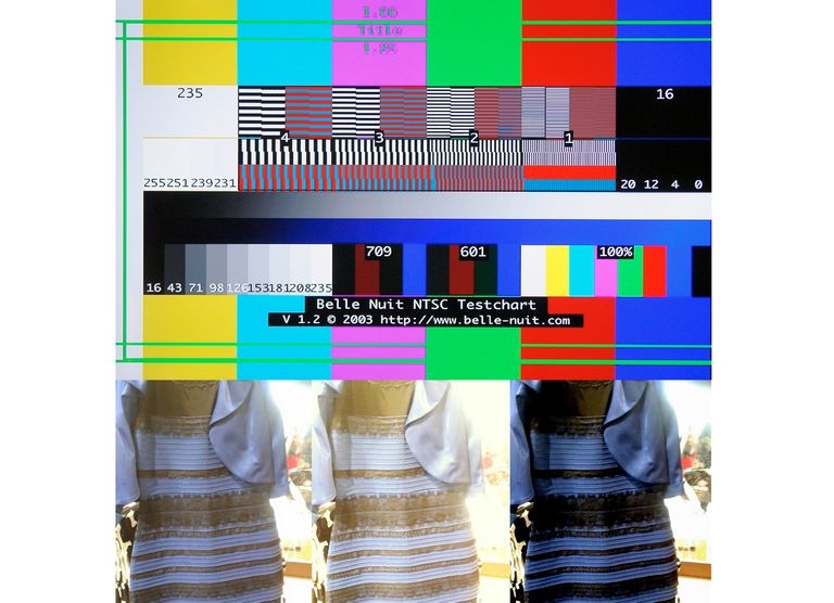 Standardized Video Color Chart and The Famous Dress