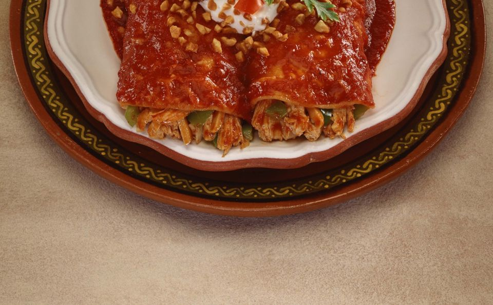 Enchiladas Smothered In Homemade Enchilada Sauce