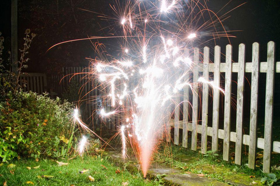 fireworks in yard
