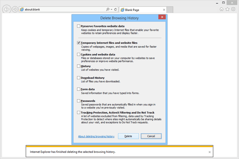 How To Clear The Cache In Ie11
