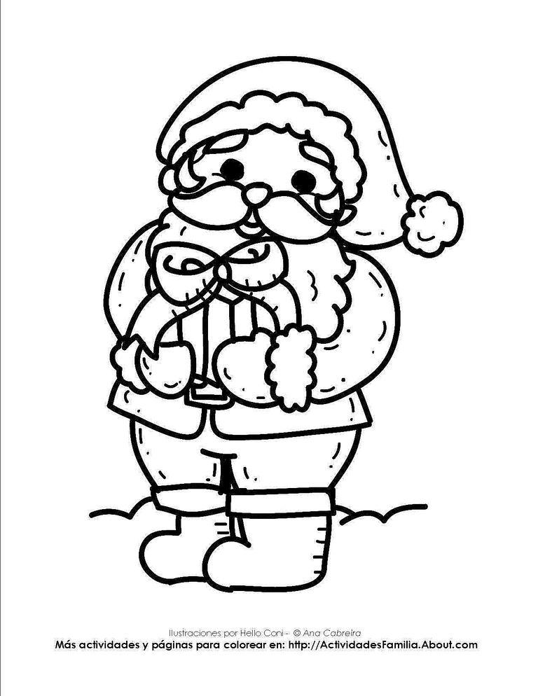 Dibujos de navidad para colorear - Dibujos para pintar navidad ...