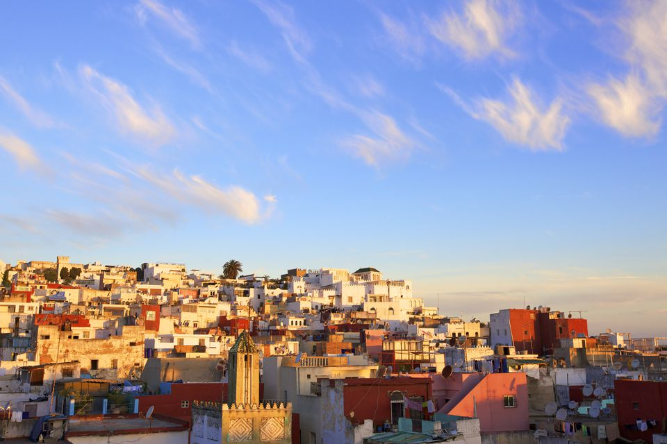 Morocco, Tangier, City at sunrise