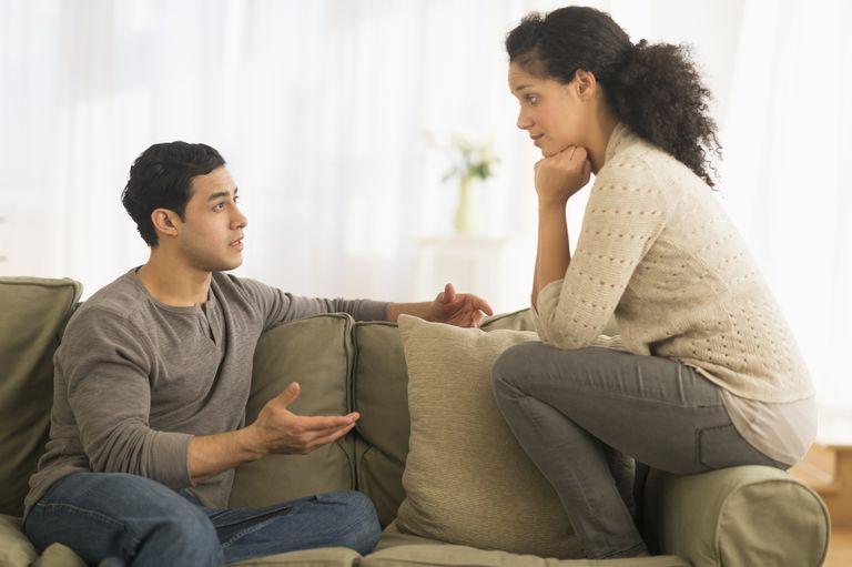 couple having serious conversation