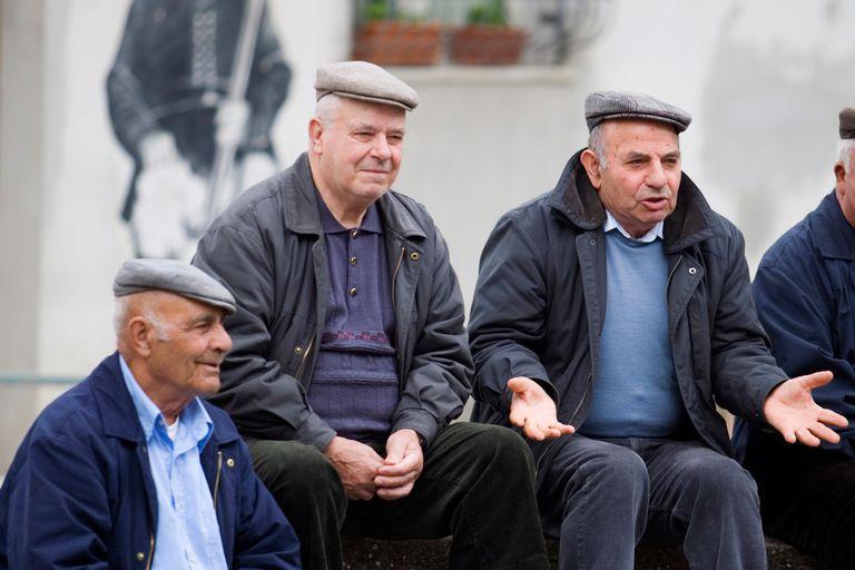Old Italian men chatting