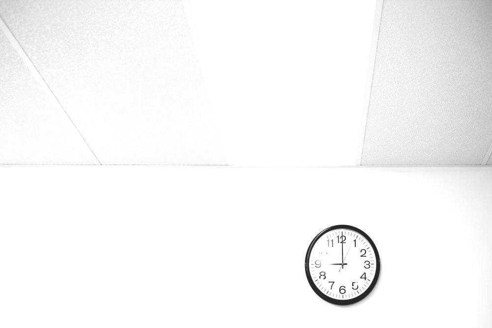 Clock on an office wall