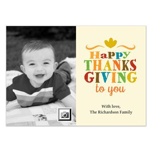 A Happy Thanksgiving to You photo ecard
