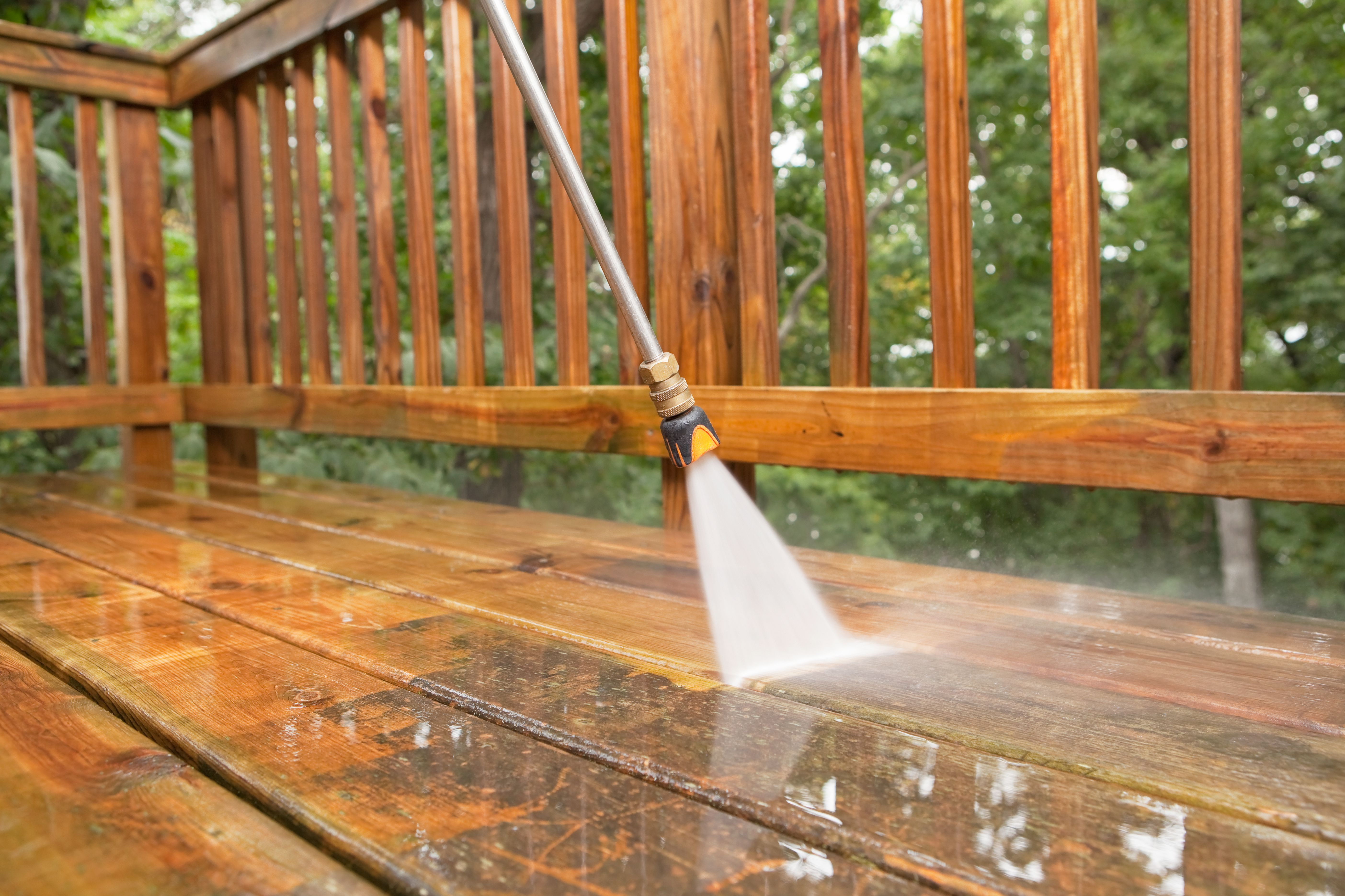 How to clean and refinish a wood deck baanklon Images