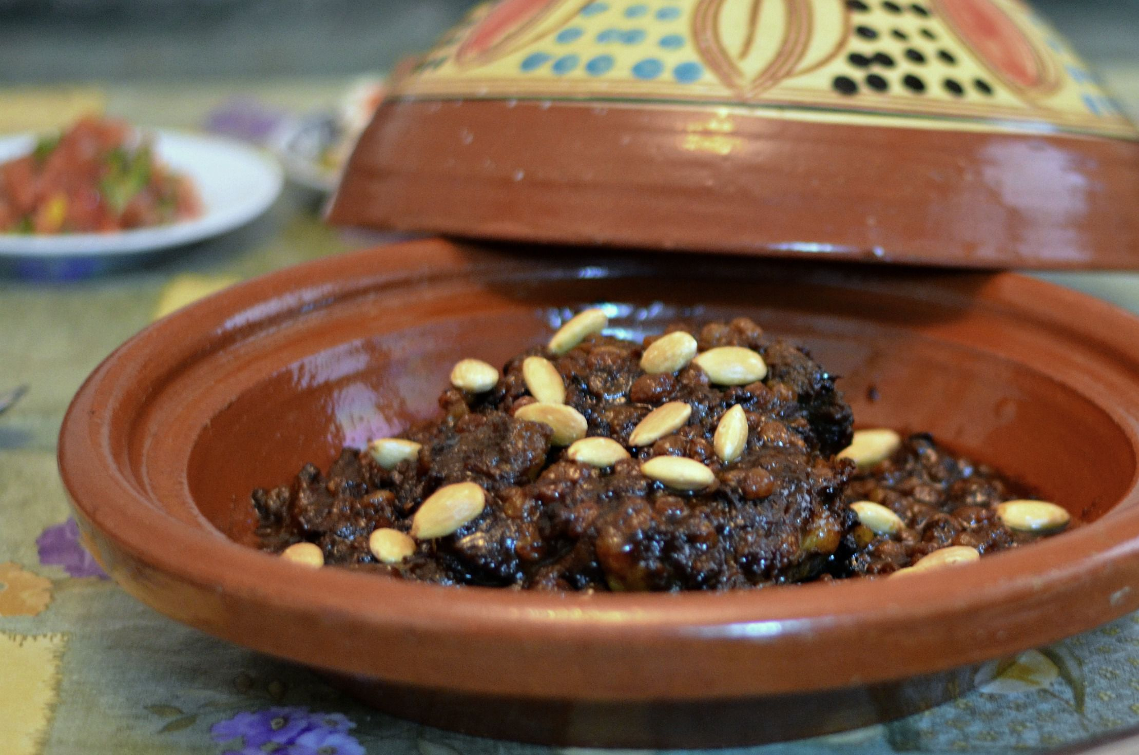 Moroccan Mrouzia Lamb Tagine With Raisins Recipe