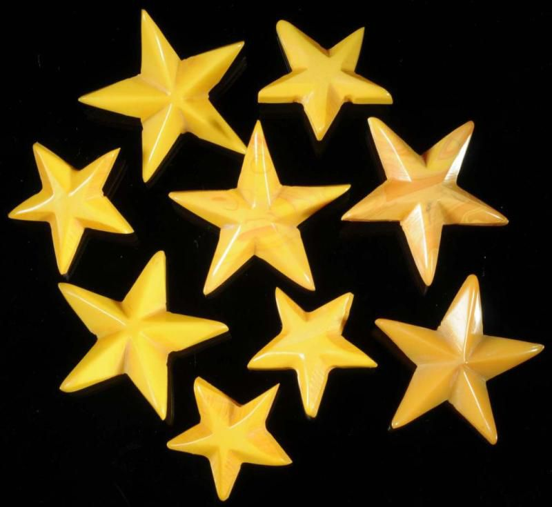 Bakelite Star Buttons