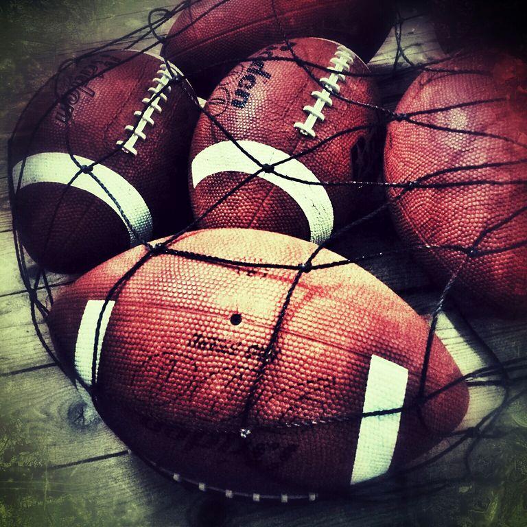 Close-Up Of America Footballs