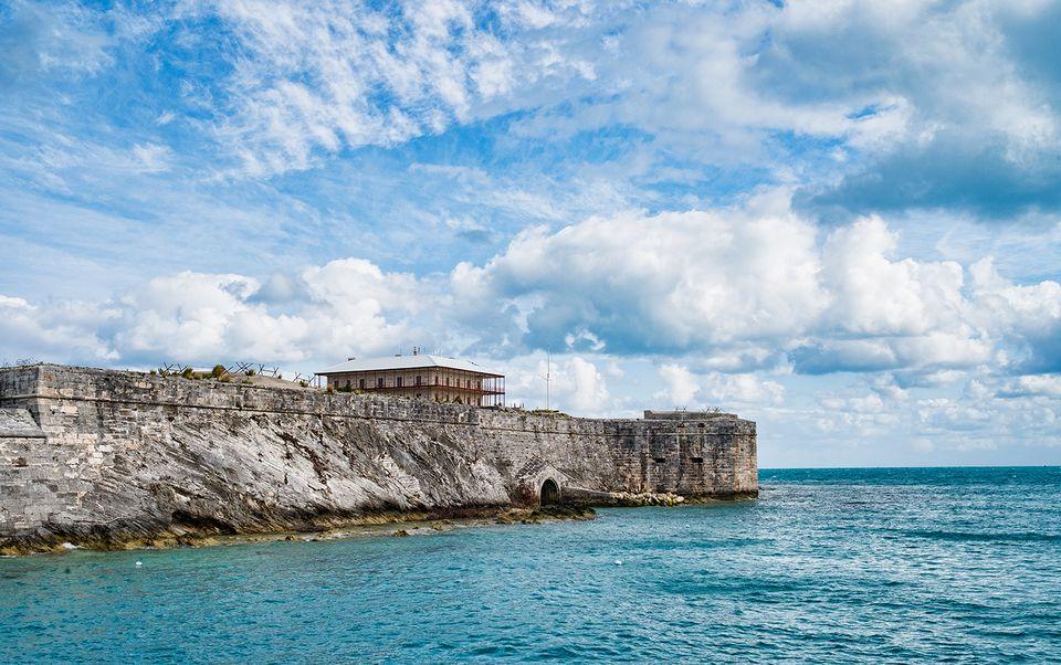 Royal Naval Dockyard Keep with Commissioner's House, Bermuda.